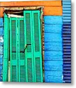 Colorful Slum Metal Print