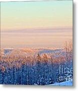 Colorful Snow Valley Metal Print