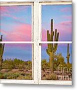 Colorful Southwest Desert Window Art View Metal Print