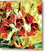 Colorful Spring Bouquet - Abstract  Metal Print