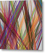 Colorful Straight Line Fractal Flame Metal Print