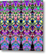 Colorful Symmetrical Abstract Metal Print