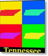 Colorful Tennessee Pop Art Map Metal Print