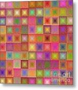 Colorful Textured Squares Metal Print