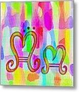 Colorful Texturized Alphabet Mm Metal Print