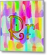 Colorful Texturized Alphabet Rr Metal Print