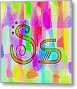Colorful Texturized Alphabet Ss Metal Print