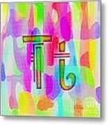 Colorful Texturized Alphabet Tt Metal Print