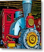 Colorful Train Metal Print