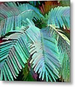 Colorful Tropical Leaves In The Jungle Metal Print