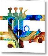 Colorful Trumpet Art By Sharon Cummings Metal Print by Sharon Cummings