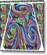 Colorful Twirl Wave Shield Design Background Designs  And Color Tones N Color Shades Available For D Metal Print
