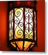 Colorful Vibrant Red Green Gothic Sconce Light Metal Print
