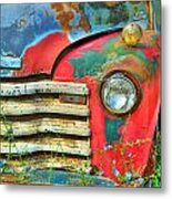 Colorful Vintage Truck Metal Print