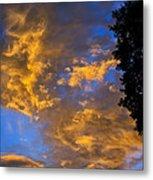 Colorful Western Sky At Sunrise Metal Print