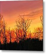 Colorful Winter Sunset Metal Print