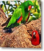 Colorfully Bright Metal Print