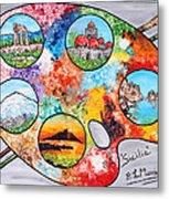 Colori Di Sicilia Metal Print