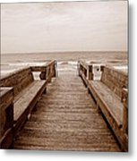 Colorless Seascape Metal Print