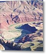 Colorodo River Flowing Through The Grand Canyon Metal Print