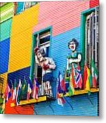 Colors And Statues Metal Print