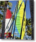 Key West Sail Colors Metal Print