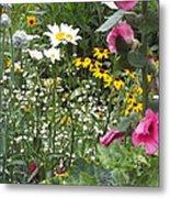 Colors In The Garden Metal Print