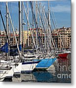 Colors In The Port Metal Print by John Rizzuto