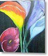 Colors Of Calla Lillies Metal Print
