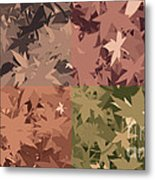 Colors Of Fall Leaves Abstract Metal Print