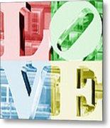 Colors Of Love Philadelphia Pa Metal Print