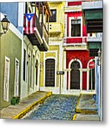 Colors Of Old San Juan Puerto Rico Metal Print