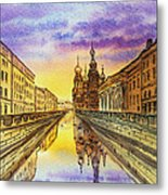 Colors Of Russia St Petersburg Cathedral I Metal Print