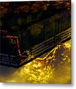 Colors Of The Sound Gold Metal Print