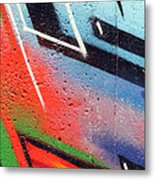 Colors On The Wall Metal Print