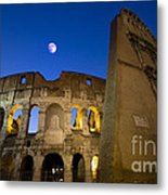 Colosseum And The Moon Metal Print