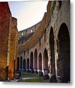 Colosseum Interior Metal Print