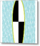 Colour Block Surfboard Metal Print