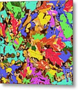 Coloured Oak Leaves By M.l.d. Moerings 2009 Metal Print