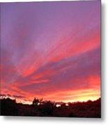 Colourful Arizona Sunset Metal Print