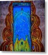 Colourful Doorway Art On Adobe House Metal Print