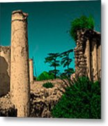 Colourful Ruins Metal Print