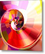 Colourful Tiled Spiral Metal Print