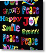 Colourful Words Metal Print