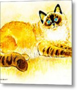 Colourpoint Cat Metal Print