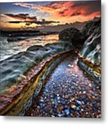 Colours Of Dawn Metal Print by Mark Leader