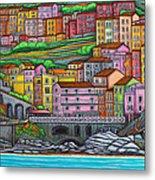 Colours Of Manarola Metal Print