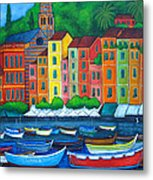 Colours Of Portofino Metal Print by Lisa  Lorenz