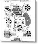 Colt Revolver Patent Art 3  -  1881  Metal Print