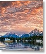 Colter Bay Sunset Metal Print